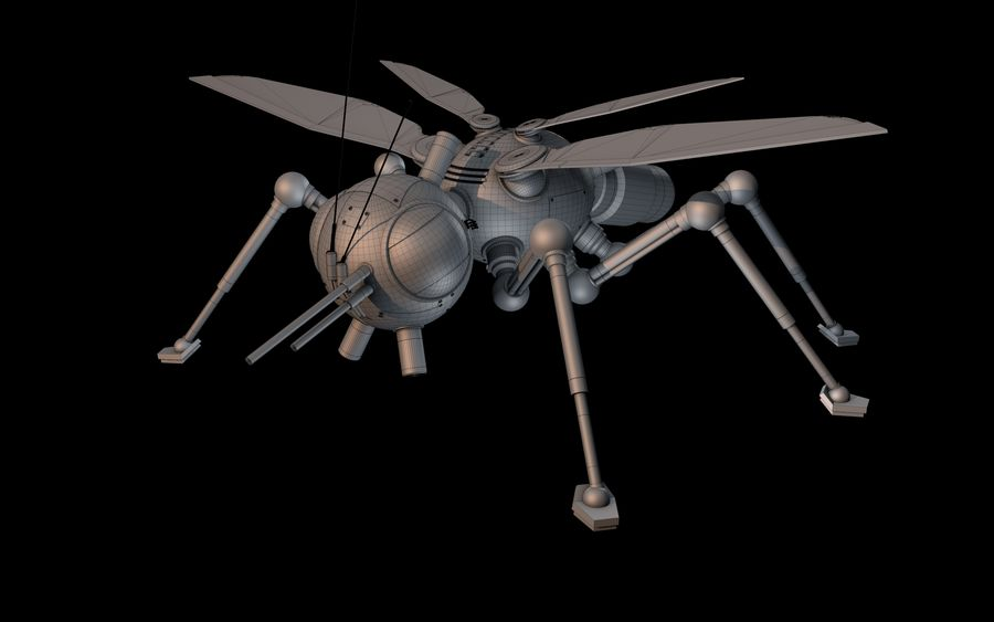 robotic bug royalty-free 3d model - Preview no. 10