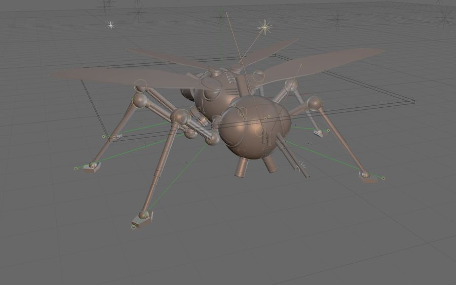 robotic bug royalty-free 3d model - Preview no. 13