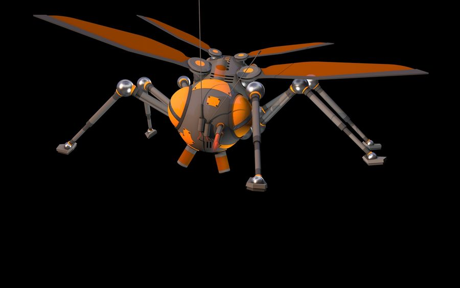 robotic bug royalty-free 3d model - Preview no. 6
