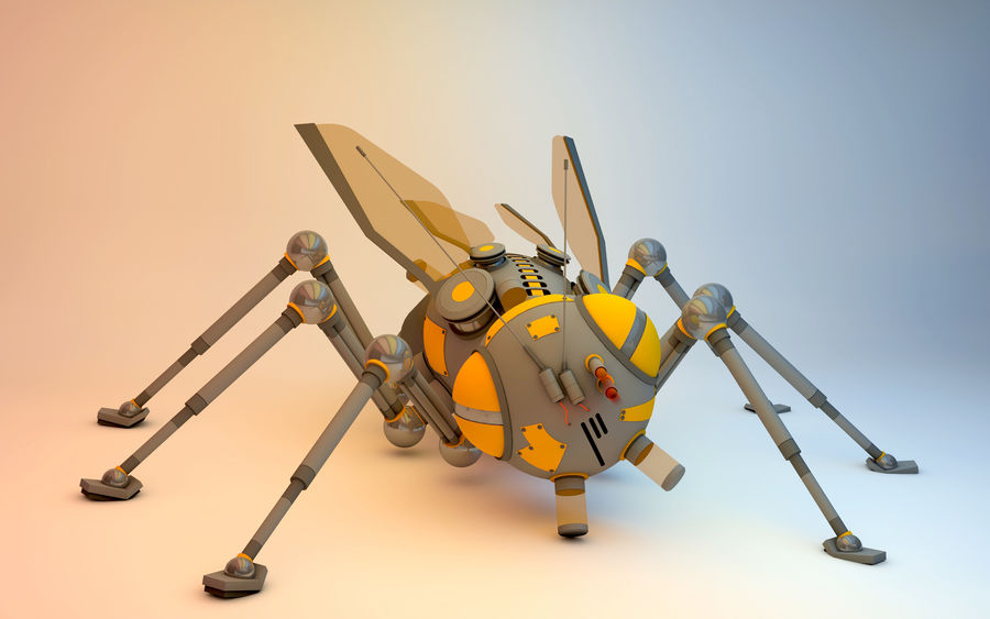 robotic bug royalty-free 3d model - Preview no. 1