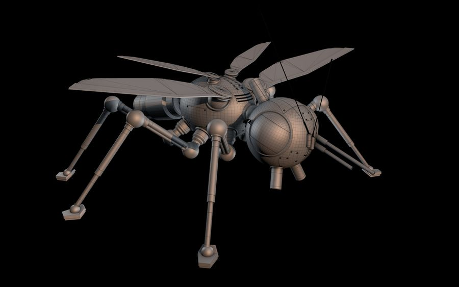 robotic bug royalty-free 3d model - Preview no. 11