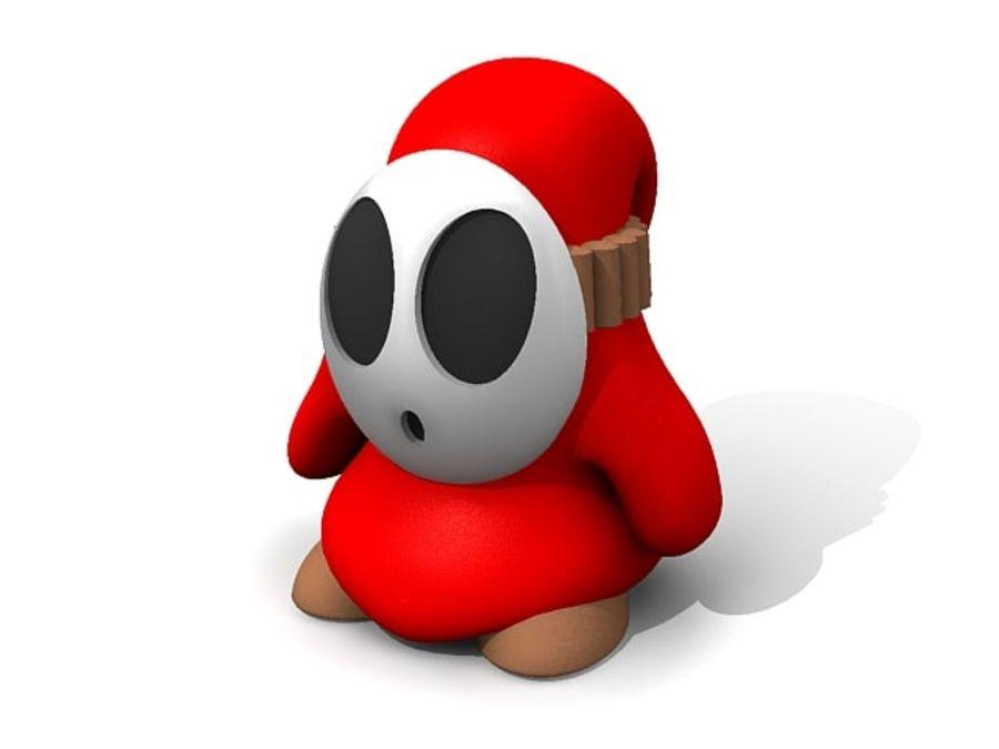 Süper Mario Utangaç Adam royalty-free 3d model - Preview no. 1