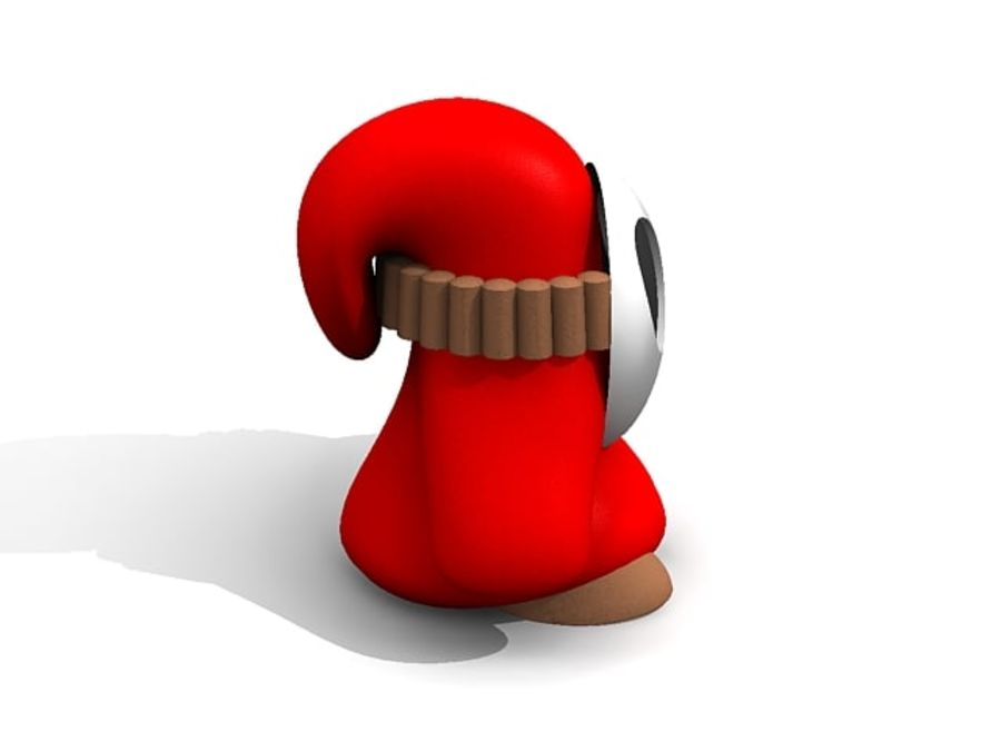 Süper Mario Utangaç Adam royalty-free 3d model - Preview no. 3