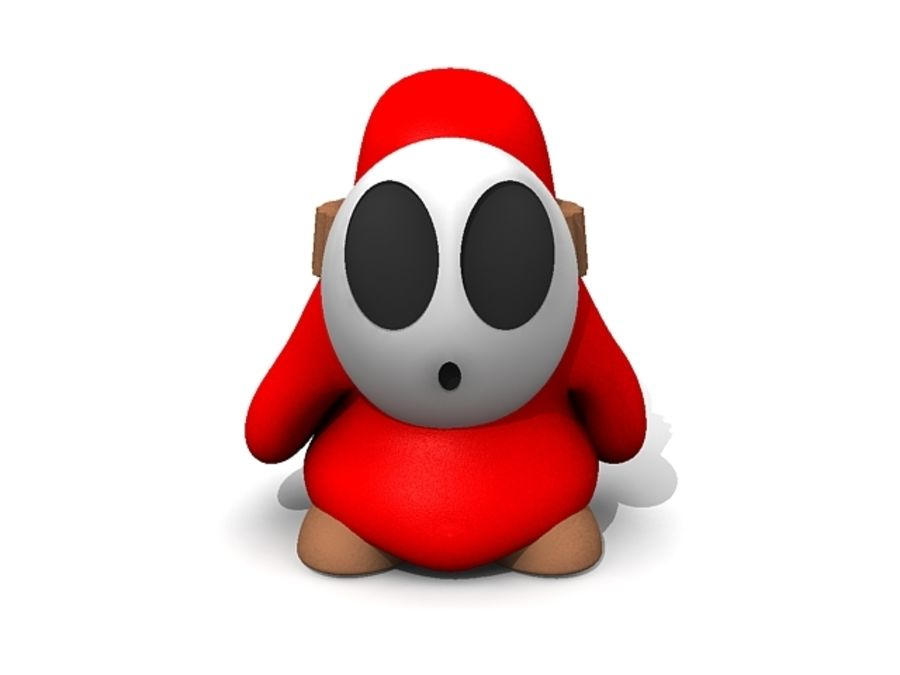 Süper Mario Utangaç Adam royalty-free 3d model - Preview no. 2