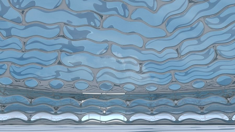 dôme de la terre et de la rivière royalty-free 3d model - Preview no. 9