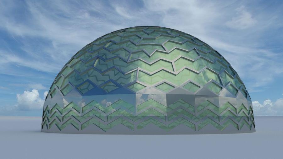 dôme de la terre et de la rivière royalty-free 3d model - Preview no. 2