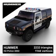 Hummer H2 Police 2002 3d model
