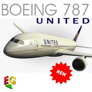 Boeing 787 United Airlines 3d model