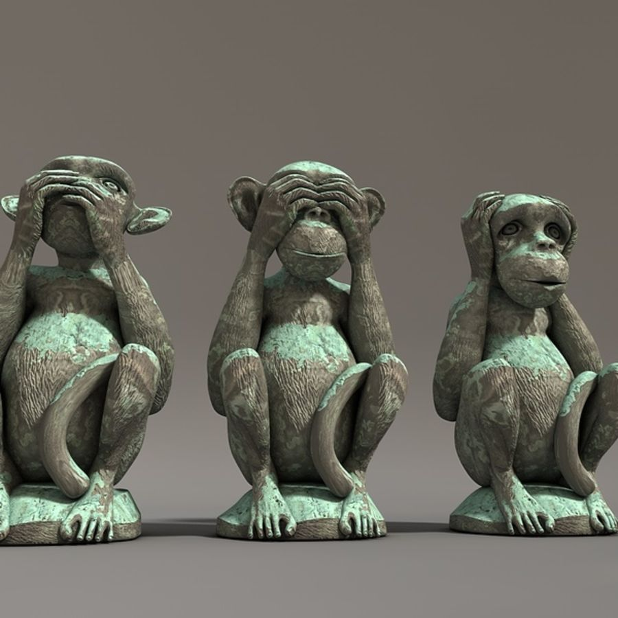 Singes royalty-free 3d model - Preview no. 5