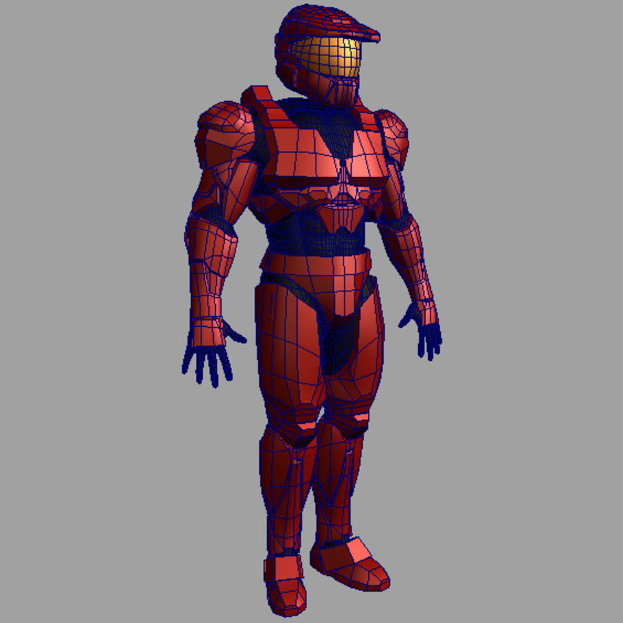 Halo Armor royalty-free 3d model - Preview no. 5
