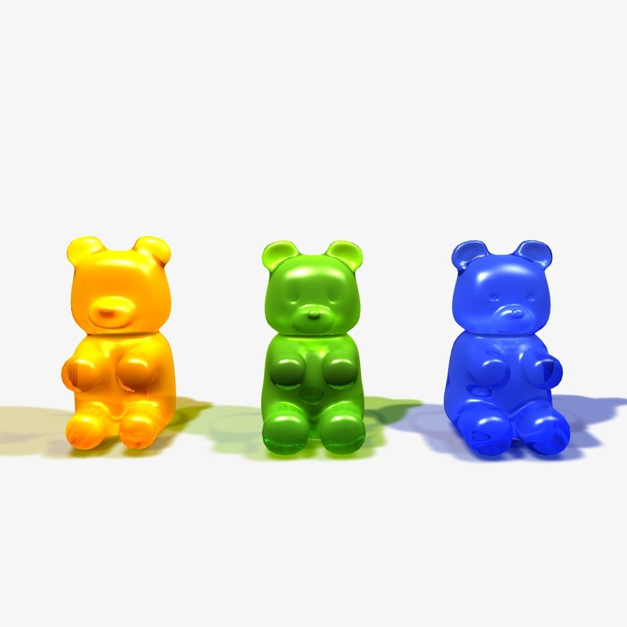 Gummy Bear Sweet royalty-free 3d model - Preview no. 5