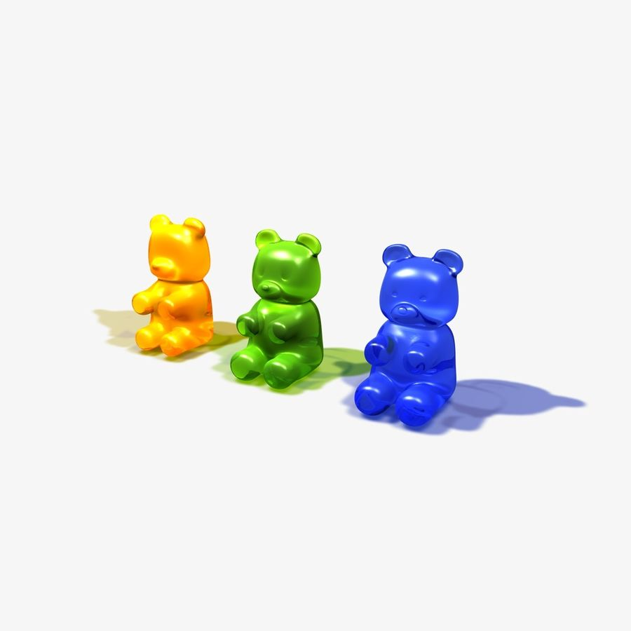 Gummy Bear Sweet royalty-free 3d model - Preview no. 2