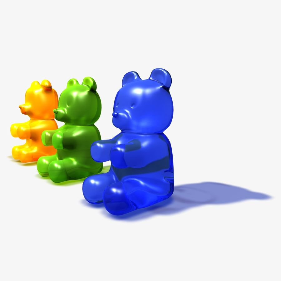 Gummy Bear Sweet royalty-free 3d model - Preview no. 6