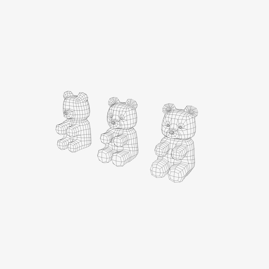 Gummy Bear Sweet royalty-free 3d model - Preview no. 4
