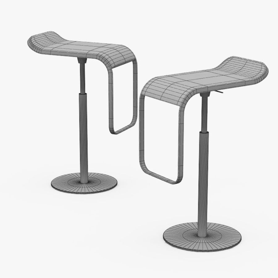 barhocker lem 2 chair 3d model 10 max obj fbx 3ds
