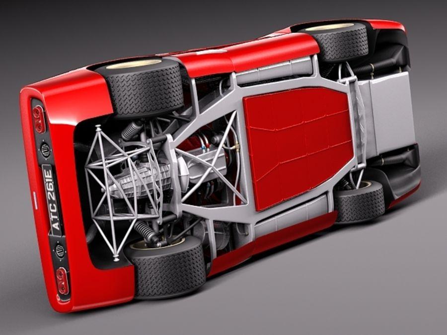 Mclaren M6GT 1969 24h lemans race car royalty-free 3d model - Preview no. 10