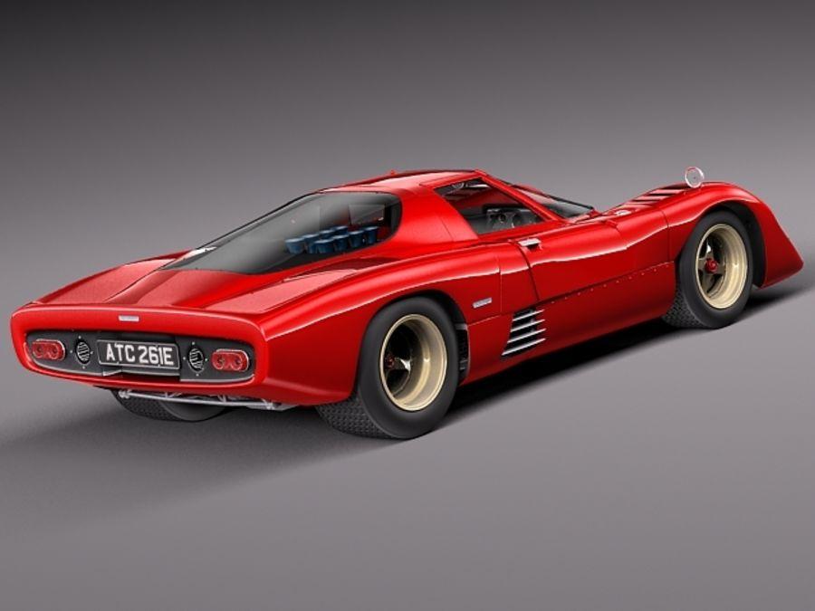 Mclaren M6GT 1969 24h lemans race car royalty-free 3d model - Preview no. 5
