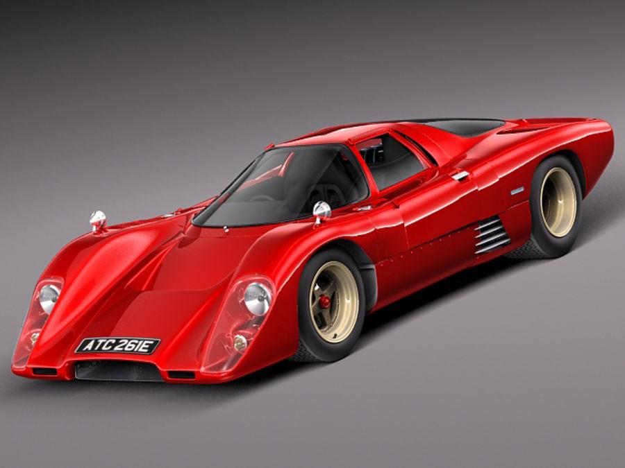 Mclaren M6GT 1969 24h lemans race car royalty-free 3d model - Preview no. 1