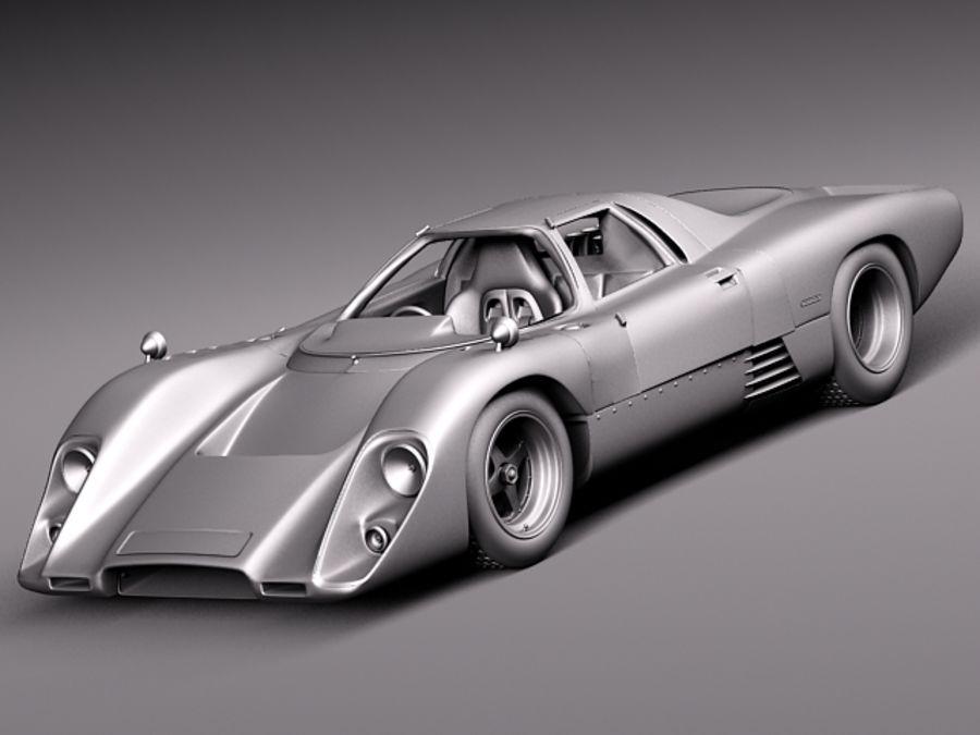 Mclaren M6GT 1969 24h lemans race car royalty-free 3d model - Preview no. 14