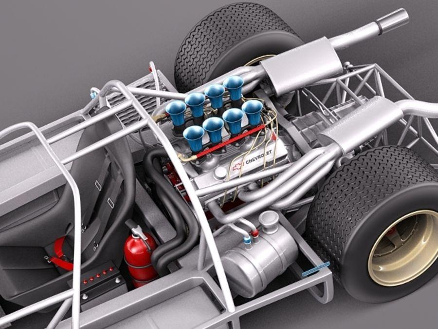 Mclaren M6GT 1969 24h lemans race car royalty-free 3d model - Preview no. 12