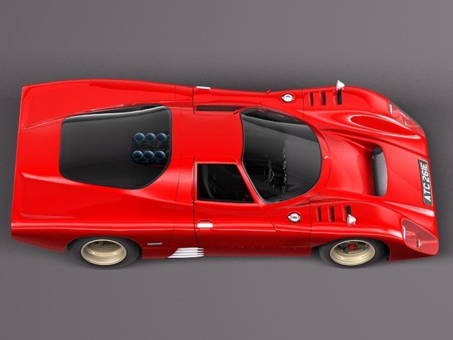 Mclaren M6GT 1969 24h lemans race car royalty-free 3d model - Preview no. 8