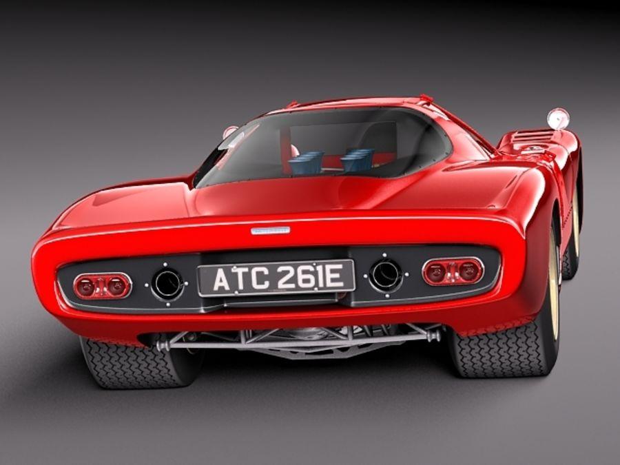 Mclaren M6GT 1969 24h lemans race car royalty-free 3d model - Preview no. 6