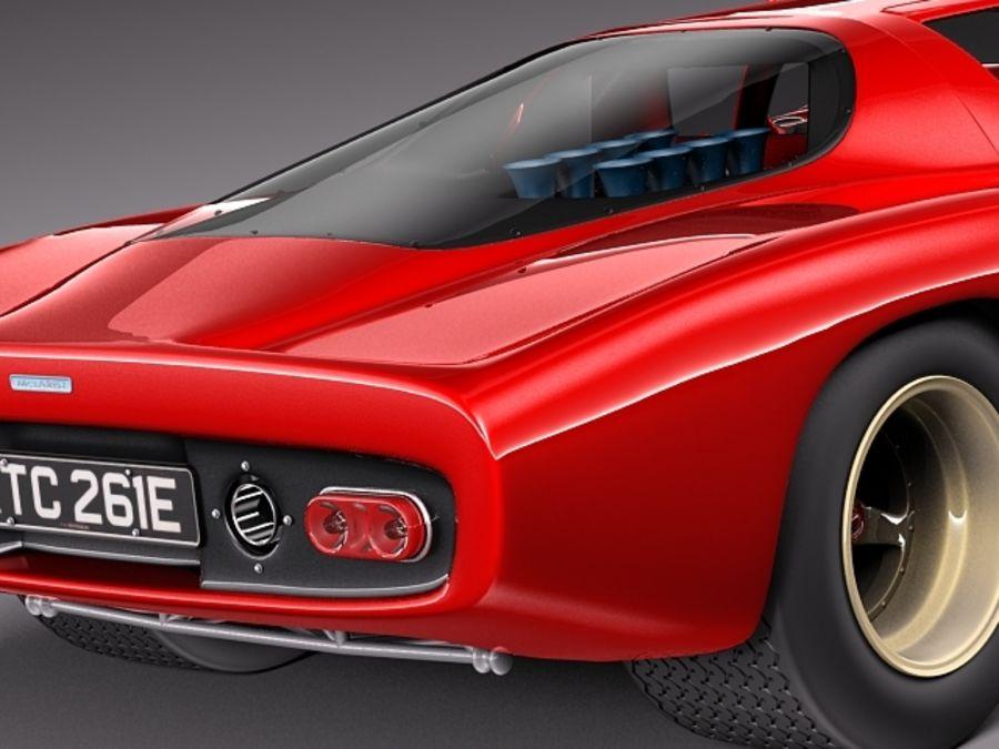Mclaren M6GT 1969 24h lemans race car royalty-free 3d model - Preview no. 4