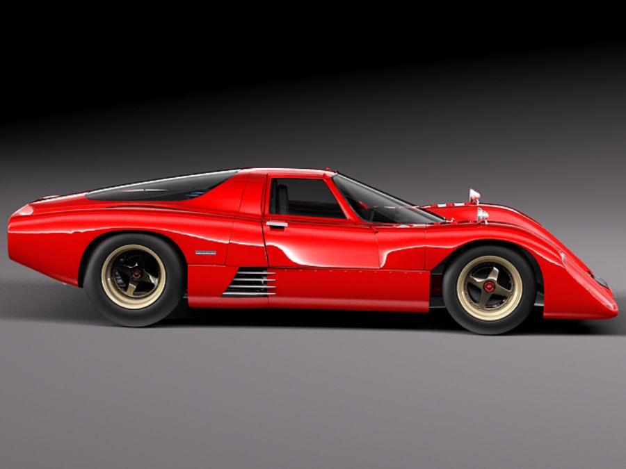 Mclaren M6GT 1969 24h lemans race car royalty-free 3d model - Preview no. 7