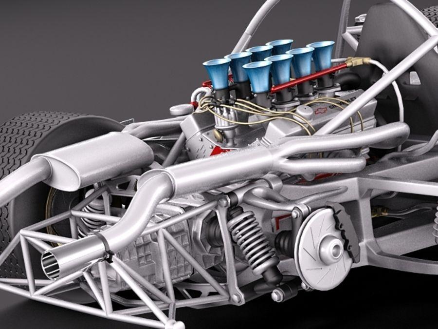 Mclaren M6GT 1969 24h lemans race car royalty-free 3d model - Preview no. 13