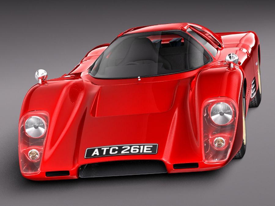 Mclaren M6GT 1969 24h lemans race car royalty-free 3d model - Preview no. 2