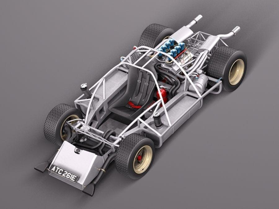 Mclaren M6GT 1969 24h lemans race car royalty-free 3d model - Preview no. 11
