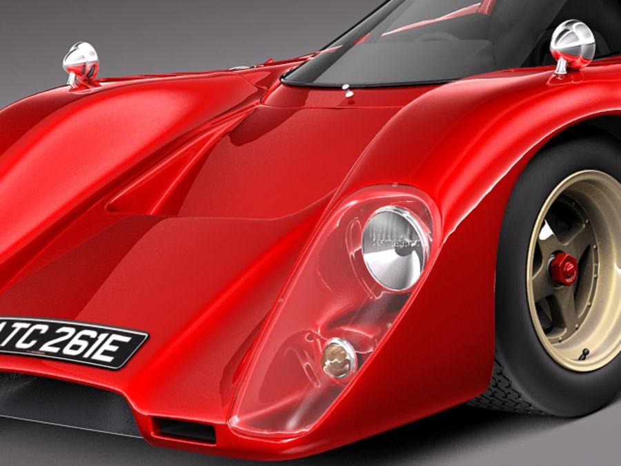 Mclaren M6GT 1969 24h lemans race car royalty-free 3d model - Preview no. 3