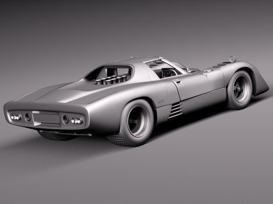 Mclaren M6GT 1969 24h lemans race car royalty-free 3d model - Preview no. 17