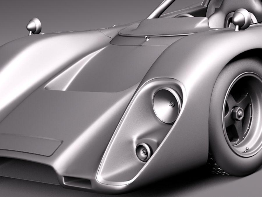Mclaren M6GT 1969 24h lemans race car royalty-free 3d model - Preview no. 15