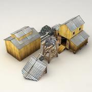 Lowpoly coal mine model 3d model