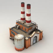 Lowpoly factory powerplant 3d model