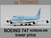 BOEING 747 Korean air 3d model