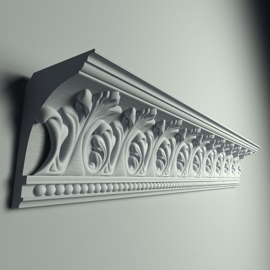 Peterhof  Cornice k 129 royalty-free 3d model - Preview no. 3
