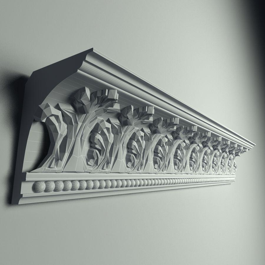 Peterhof  Cornice k 129 royalty-free 3d model - Preview no. 5