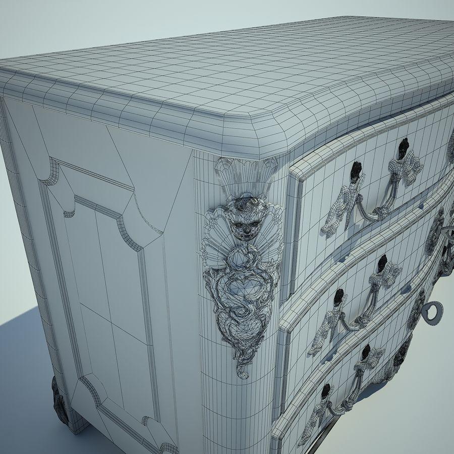 ドレッサーMoissonnier2 royalty-free 3d model - Preview no. 6
