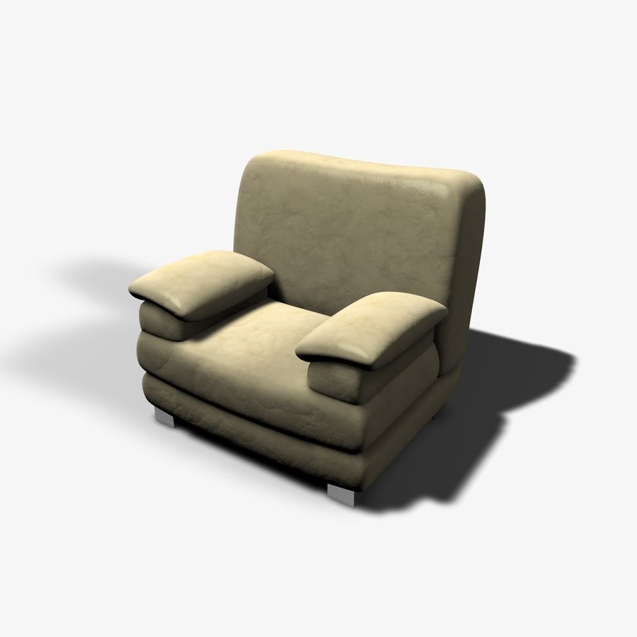 Couch Chairs Royalty Free 3d Model   Preview No. 3