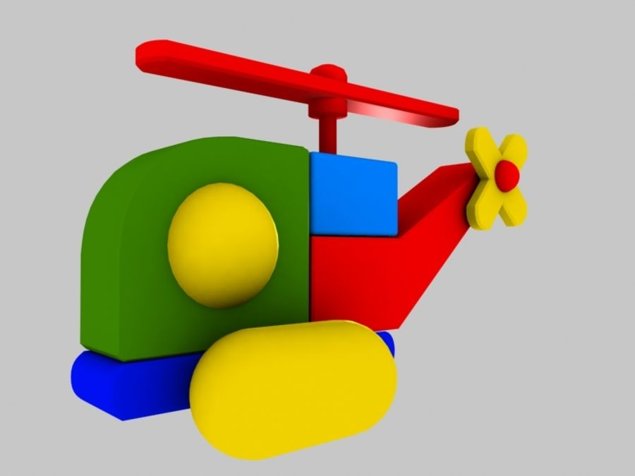 Helicopter Toy royalty-free 3d model - Preview no. 6