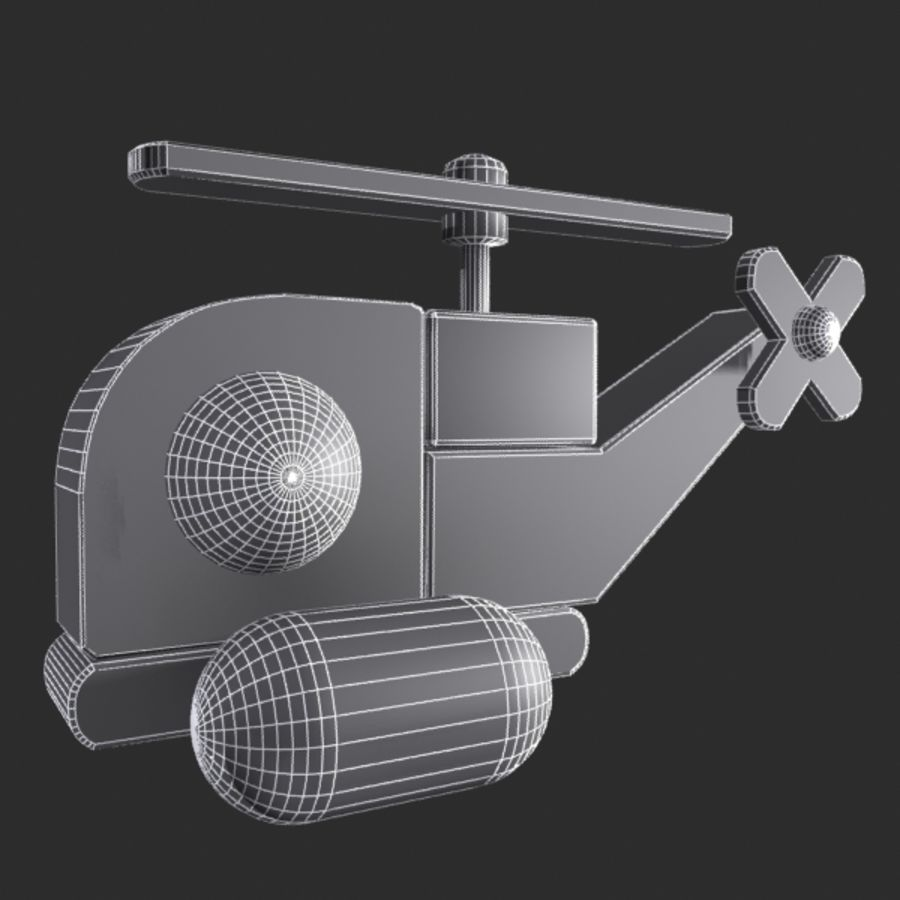 Helicopter Toy royalty-free 3d model - Preview no. 7