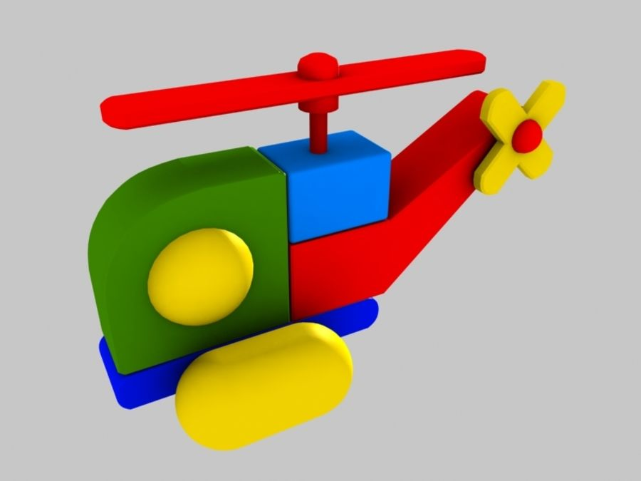 Helicopter Toy royalty-free 3d model - Preview no. 3
