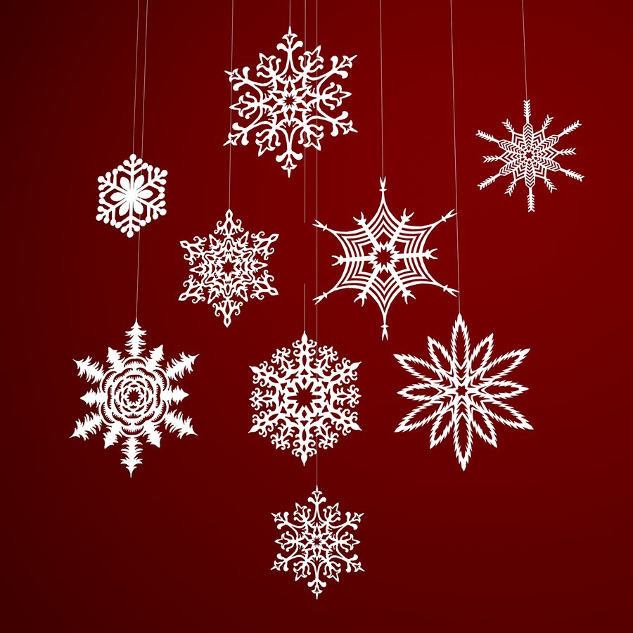 Snowflakes royalty-free 3d model - Preview no. 2