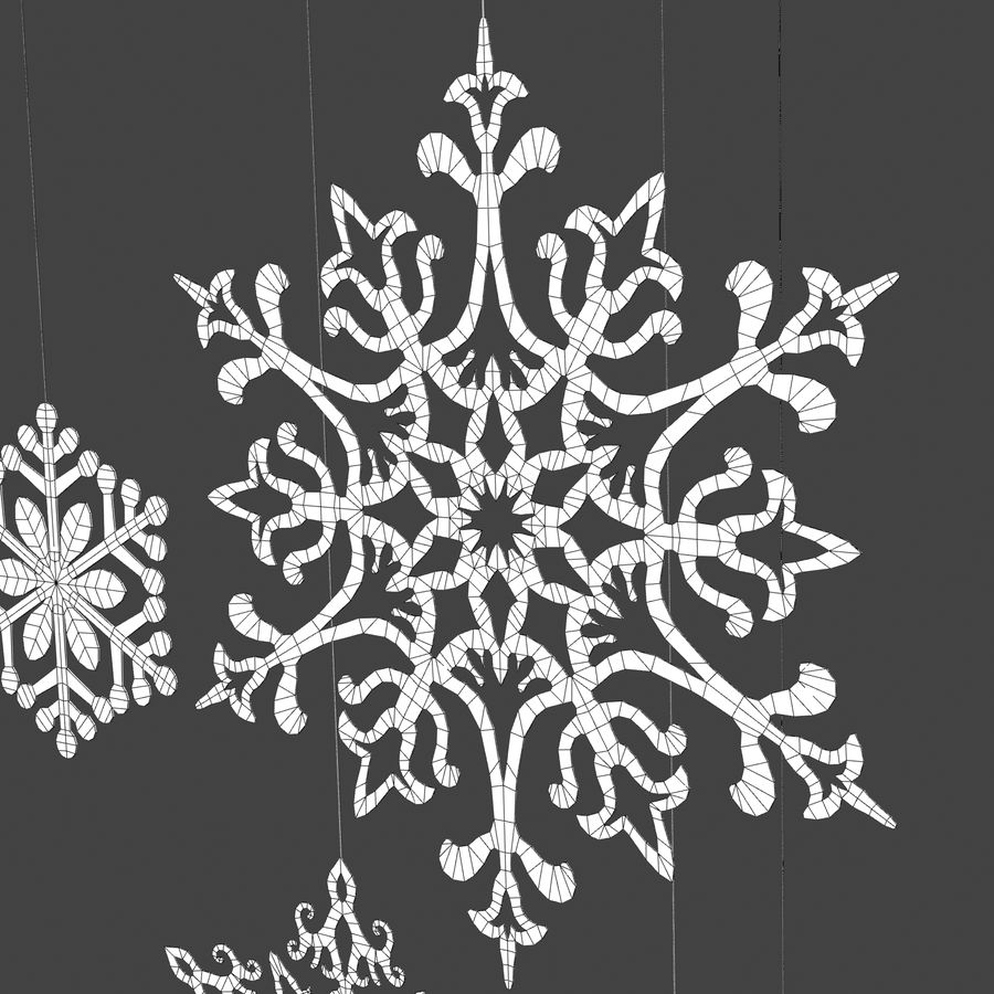 Snowflakes royalty-free 3d model - Preview no. 6