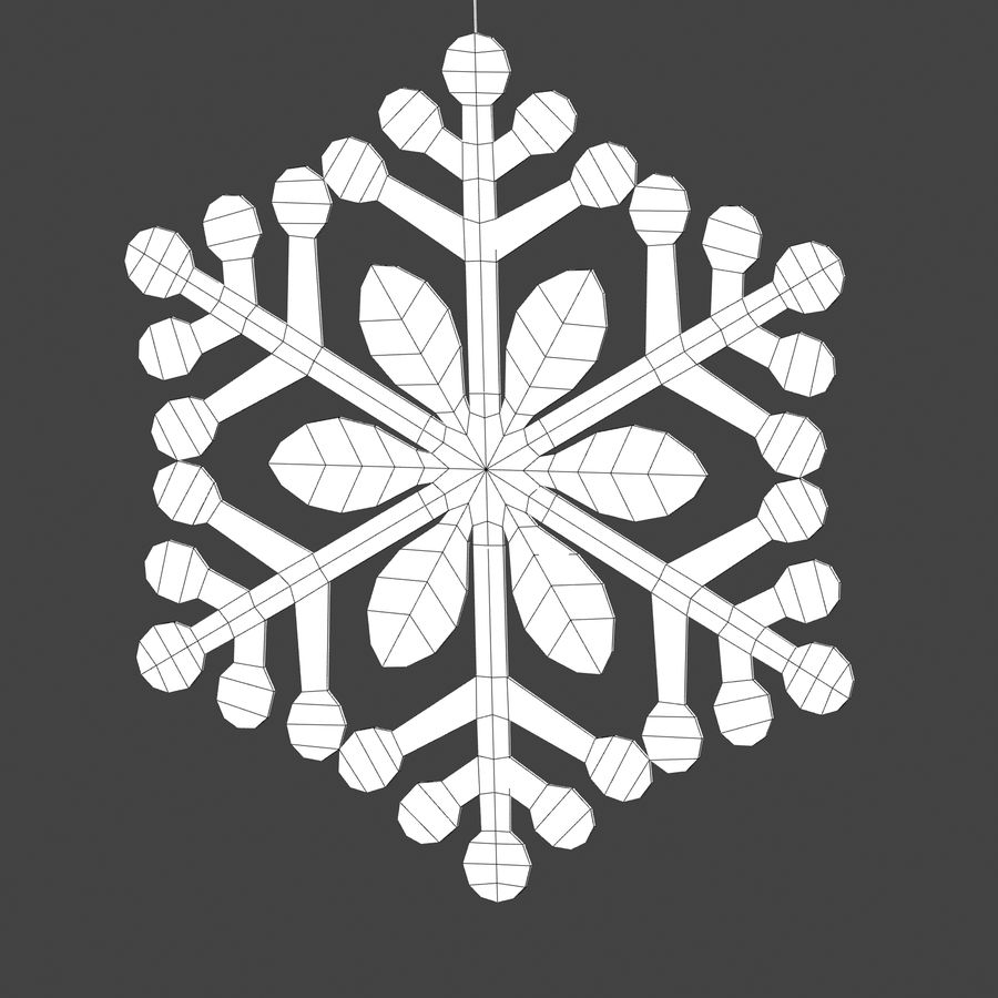 Snowflakes royalty-free 3d model - Preview no. 8