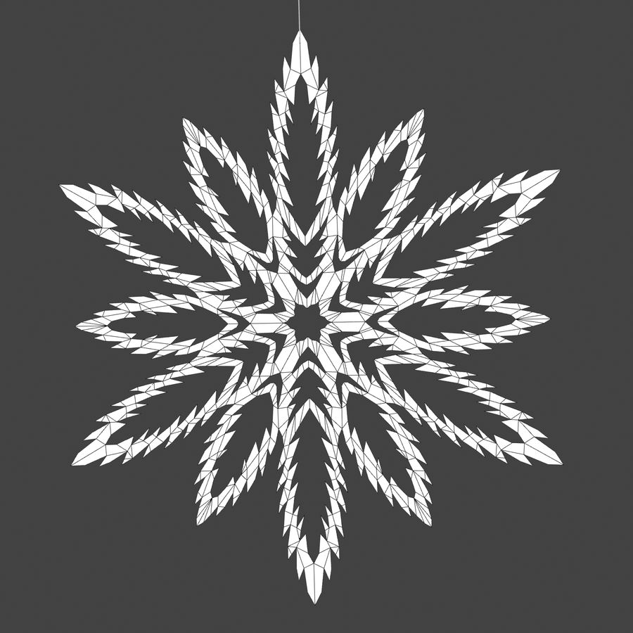 Snowflakes royalty-free 3d model - Preview no. 10