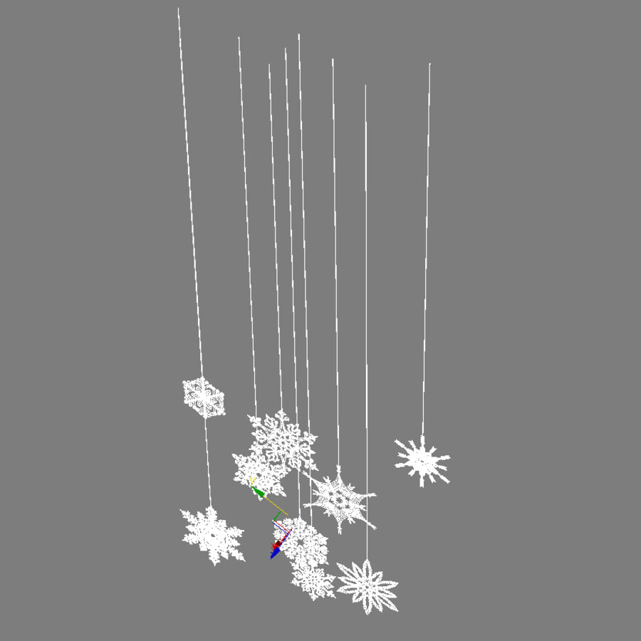 Snowflakes royalty-free 3d model - Preview no. 11
