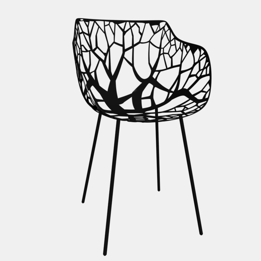 mesh chair royalty-free 3d model - Preview no. 5